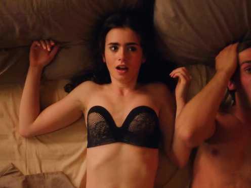 Sex Video Lily Collins Hot Love Rosie 2014 Video Best Sexy