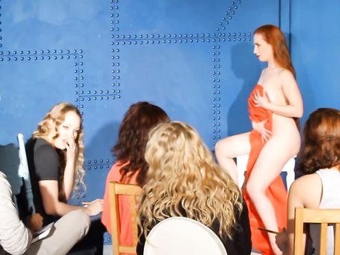 Nude Art Model In Class