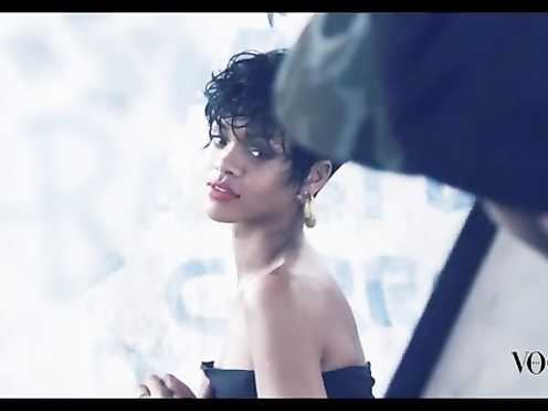 Rihanna sexy – Vogue Brasil- Behind-the-scenes (2014)